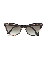 Prada Cat Eye Tortoiseshell Acetate Sunglasses