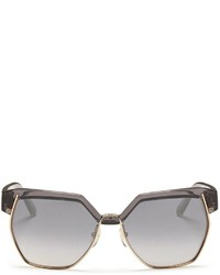 Chloé Chlo Metal Rim Angular Acetate Sunglasses