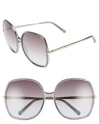 Chloe 62mm oversized gradient lens square sunglasses dark grey medium 3747090