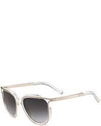 Chloé Chloe Jayme Gradient Metal Cat Eye Sunglasses
