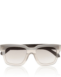 Linda Farrow D Frame Acetate And Elaphe Sunglasses