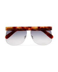 Courreges D Frame Tortoiseshell Acetate Sunglasses