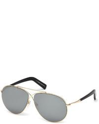 Tom Ford Eva Lighweight Aviator Sunglasses Rose Goldgray