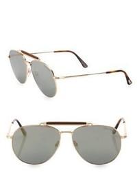 Tom Ford Eyewear Sean 60mm Mirrored Aviator Sunglasses