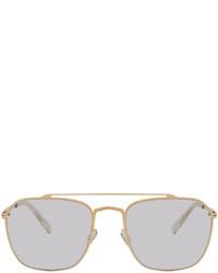 Maison Margiela Gold Mykita Edition Mmcraft006 Sunglasses