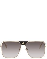 Alexander McQueen Gold Top Piercing Sunglasses