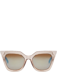 Fendi Grey Transparent Cat Eye Sunglasses