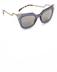 Fendi Iridia Corner Accent Sunglasses