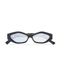 Le Specs Jordan Askill Petit Panthre Cat Eye Acetate And Silver Tone Sunglasses