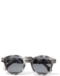 Illesteva Leonard Round Frame Acetate Sunglasses Gray