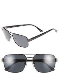 Ted Baker London 59mm Polarized Navigator Sunglasses Dark Gunmetal