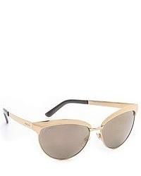 Gucci Mirrored Cat Eye Sunglasses