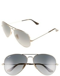 Org aviator 62mm sunglasses gold grey gradient medium 592926