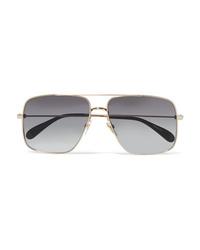 Givenchy Oversized Aviator Style Gold Tone Sunglasses