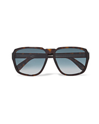 Givenchy Oversized Square Frame Tortoiseshell Acetate Sunglasses