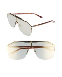 Gucci Retro Web Shield 62mm Sunglasses