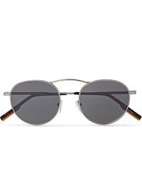 Ermenegildo Zegna Round Frame Gunmetal Tone Sunglasses