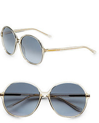 Saint Laurent Round Plastic Sunglasses