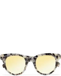 Illesteva Sicilia Cat Eye Acetate Mirrored Sunglasses Gray
