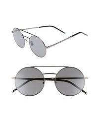 Saint Laurent Sl 210f 56mm Round Aviator Sunglasses