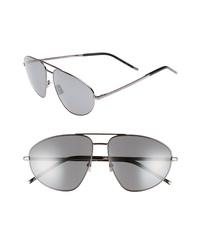 Saint Laurent Sl 211 60mm Aviator Sunglasses