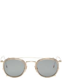 White and gold clip on sunglasses medium 595963