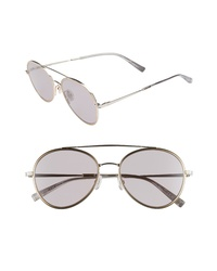 Max Mara Wire Ii 54mm Aviator Sunglasses