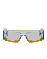 Jacquemus Yellow And Blue Les Lunettes Yauco Sunglasses