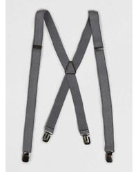 Topman Grey Skinny Suspenders