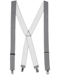Topman Grey Wide Plain Suspenders