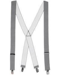 Topman Grey Wide Plain Suspenders