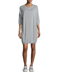 Vince 34 Sleeve Sweatshirt Dress Gray