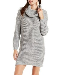 Charlotte Russe Slouchy Turtleneck Sweater Dress