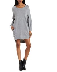 Charlotte Russe Essue Cut Out High Low Sweatshirt Dress