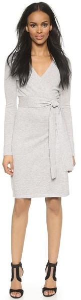5c28015d437 ... Diane von Furstenberg Linda Wrap Sweater Dress ...