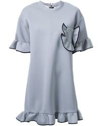 Marni Ruffled Sweatshirt Dress