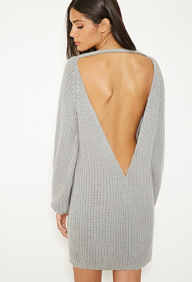 Forever 21 Mlm V Cut Back Sweater Dress | Where to buy & how to wear