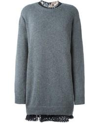 No.21 No21 Jeweled Collar Sweater Dress