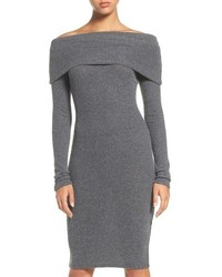 Nsr Off The Shoulder Body Con Sweater Dress