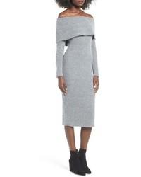 J.o.a. Off The Shoulder Sweater Dress