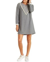Charlotte Russe Papermoon Top Stitched Sweatshirt Dress