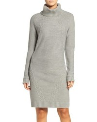 Petite cable knit sweater dress medium 883996