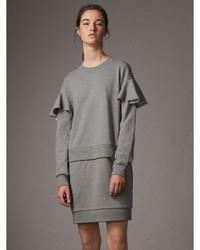 Burberry Ruffle Sleeve Cotton Sweater Dress