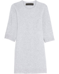 The Elder Statesman Cashmere Sweater Dress Light Gray