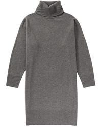 Joe Fresh Turtleneck Sweater Dress Grey Mix
