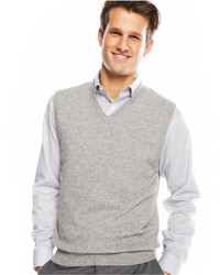 Club Room Big And Tall Cashmere Solid Sweater Vest