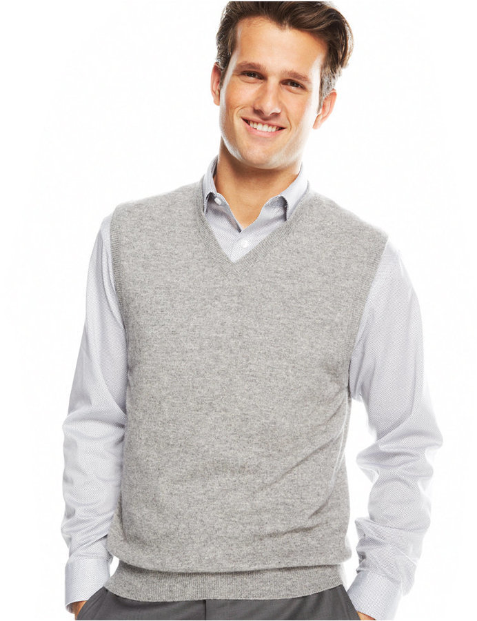 Club Room Big And Tall Cashmere Solid Sweater Vest | Where to buy ...