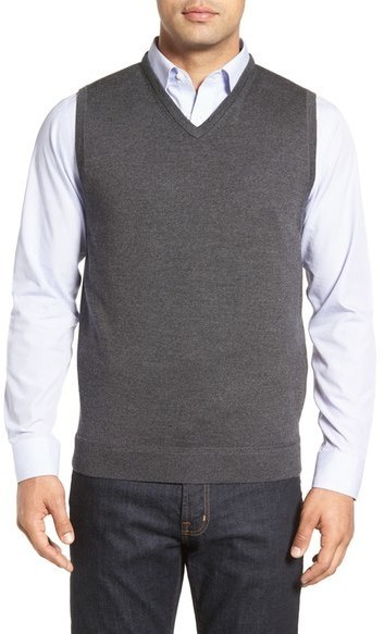 Big Tall John W Nordstrom Wool V Neck Sweater Vest | Where to buy ...