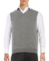 Black & Brown Black Brown Merino Wool Sweater Vest