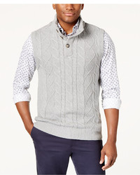 Club Room Cable Knit Sweater Vest Created For Macys